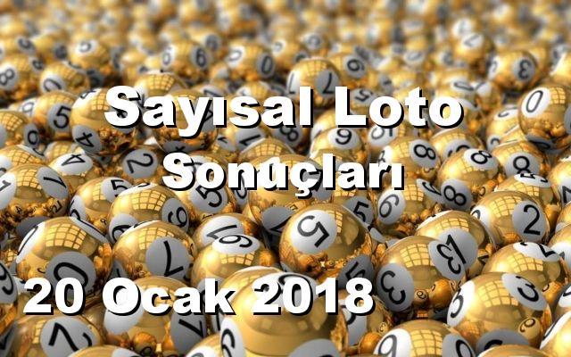 Sayısal Loto detay bilgiler 20/01/2018