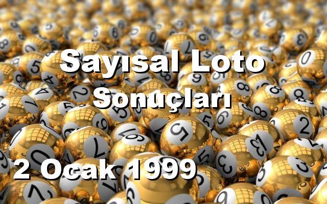 Sayısal Loto detay bilgiler 02/01/1999