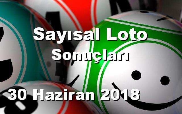 Sayısal Loto detay bilgiler 30/06/2018
