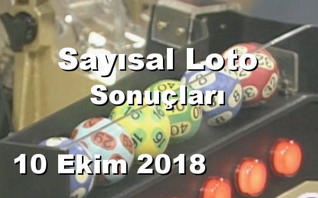Sayısal Loto detay bilgiler 10/10/2018