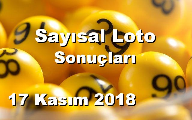 Sayısal Loto detay bilgiler 17/11/2018
