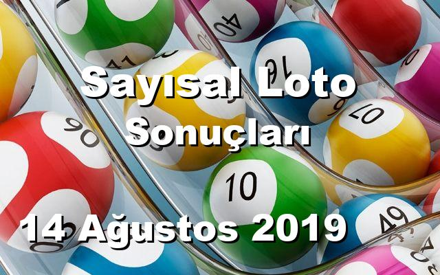 Sayısal Loto detay bilgiler 14/08/2019