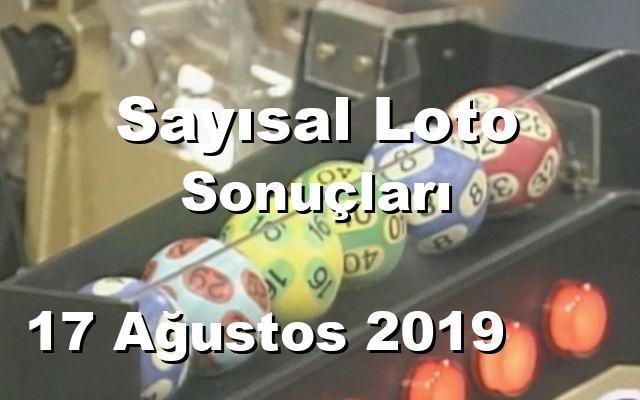 Sayısal Loto detay bilgiler 17/08/2019