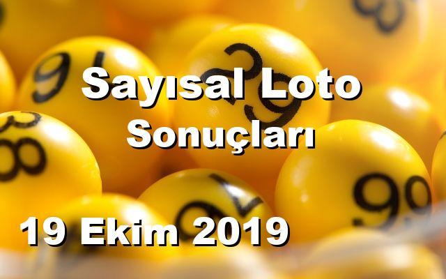 Sayısal Loto detay bilgiler 19/10/2019