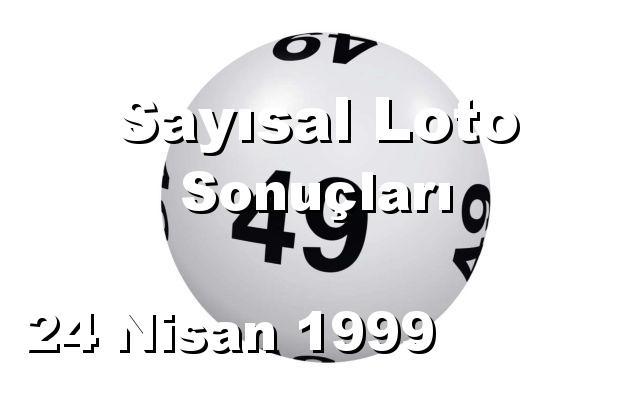 Sayısal Loto detay bilgiler 24/04/1999