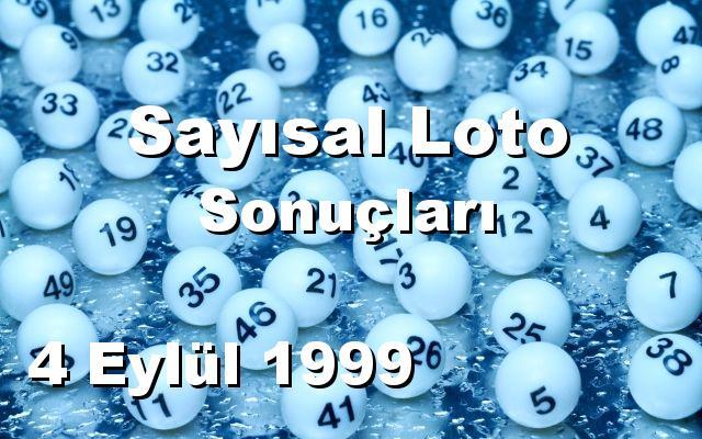 Sayısal Loto detay bilgiler 04/09/1999