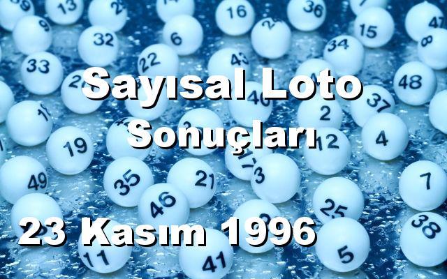 Sayısal Loto detay bilgiler 23/11/1996