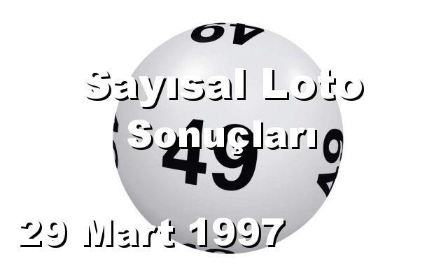 Sayısal Loto detay bilgiler 29/03/1997