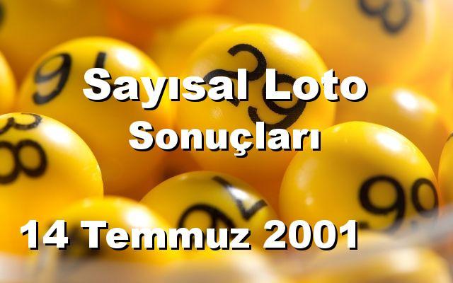 Sayısal Loto detay bilgiler 14/07/2001