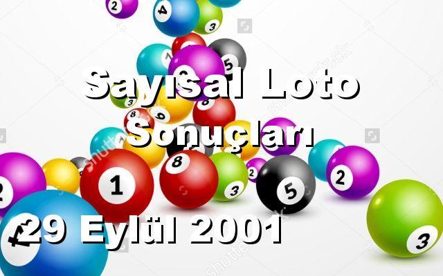 Sayısal Loto detay bilgiler 29/09/2001