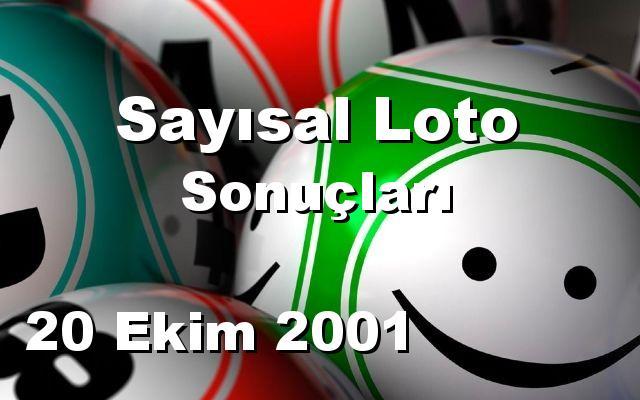 Sayısal Loto detay bilgiler 20/10/2001