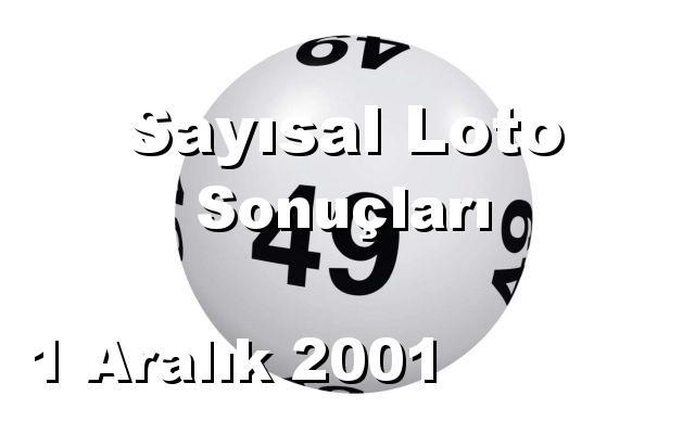Sayısal Loto detay bilgiler 01/12/2001
