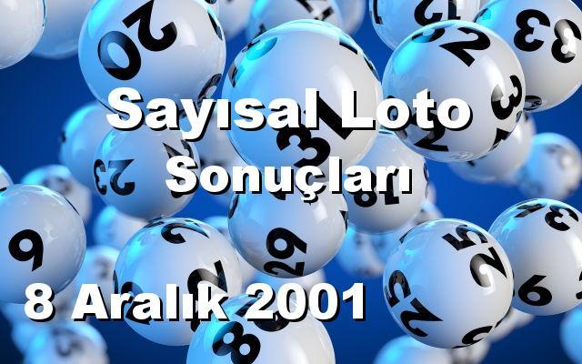 Sayısal Loto detay bilgiler 08/12/2001