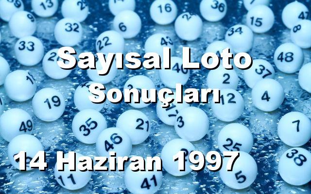 Sayısal Loto detay bilgiler 14/06/1997