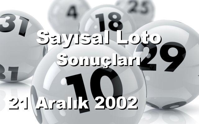 Sayısal Loto detay bilgiler 21/12/2002