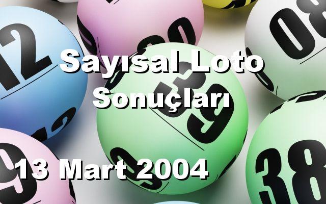 Sayısal Loto detay bilgiler 13/03/2004