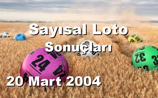 Sayısal Loto detay bilgiler 20/03/2004