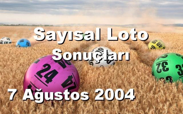 Sayısal Loto detay bilgiler 07/08/2004