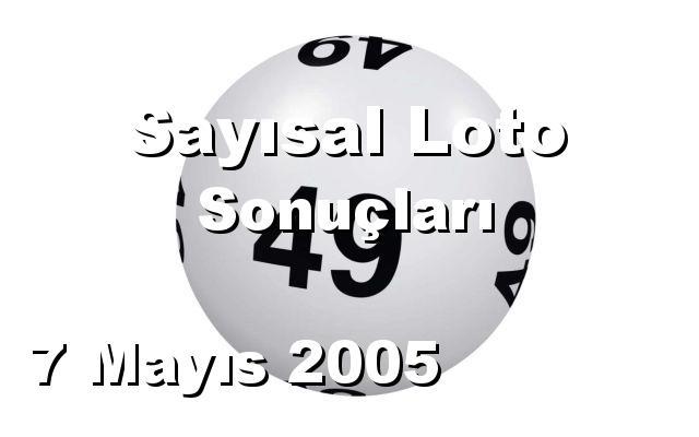 Sayısal Loto detay bilgiler 07/05/2005