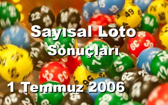 Sayısal Loto detay bilgiler 01/07/2006