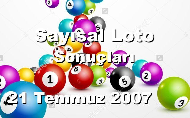 Sayısal Loto detay bilgiler 21/07/2007