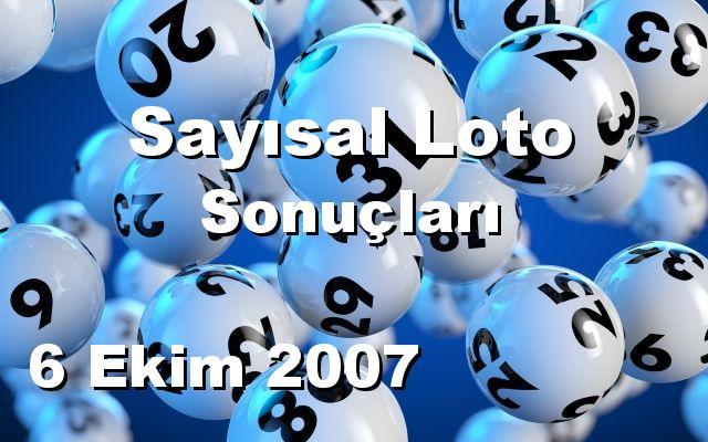 Sayısal Loto detay bilgiler 06/10/2007