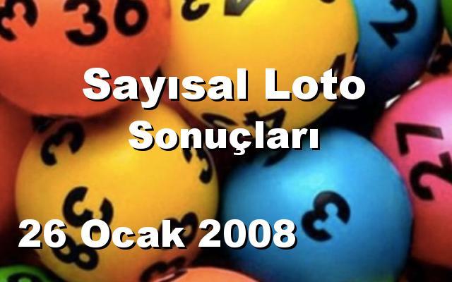 Sayısal Loto detay bilgiler 26/01/2008