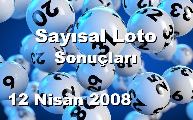 Sayısal Loto detay bilgiler 12/04/2008