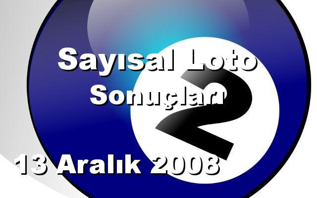 Sayısal Loto detay bilgiler 13/12/2008