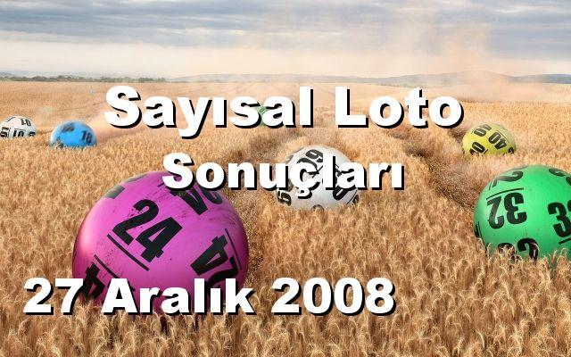 Sayısal Loto detay bilgiler 27/12/2008