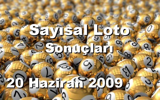 Sayısal Loto detay bilgiler 20/06/2009