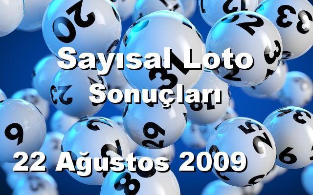 Sayısal Loto detay bilgiler 22/08/2009