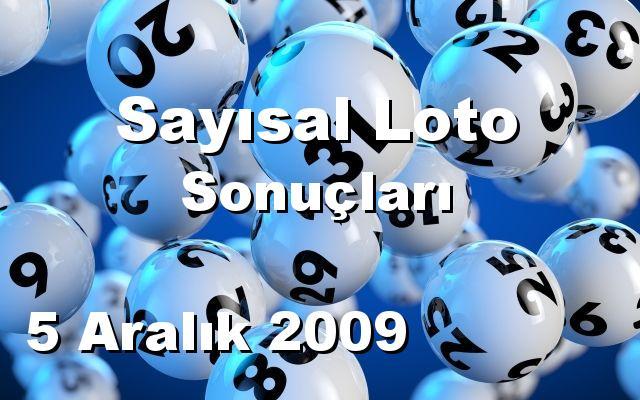 Sayısal Loto detay bilgiler 05/12/2009