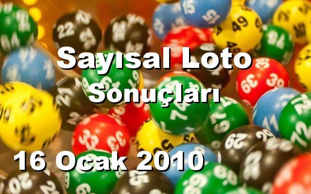 Sayısal Loto detay bilgiler 16/01/2010