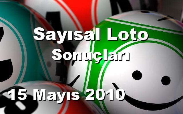 Sayısal Loto detay bilgiler 15/05/2010