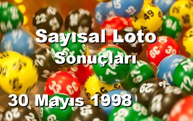 Sayısal Loto detay bilgiler 30/05/1998