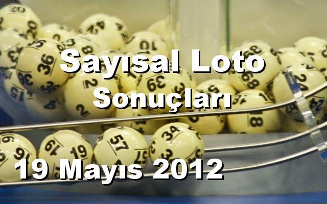 Sayısal Loto detay bilgiler 19/05/2012