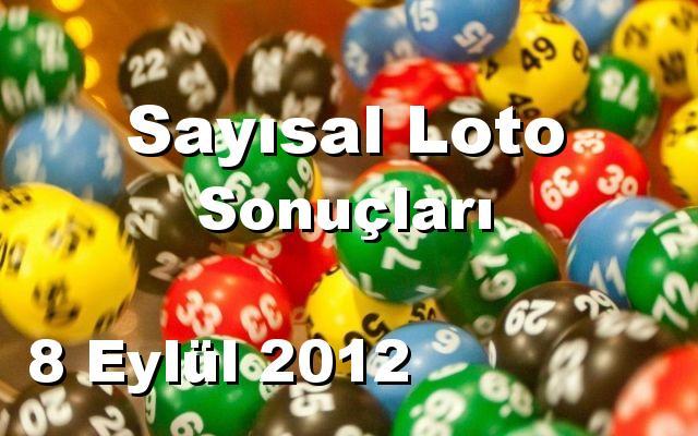 Sayısal Loto detay bilgiler 08/09/2012