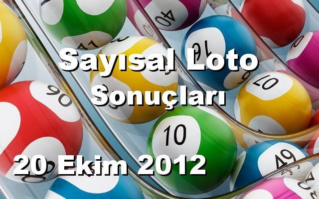 Sayısal Loto detay bilgiler 20/10/2012