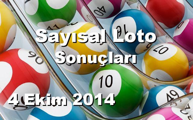 Sayısal Loto detay bilgiler 04/10/2014