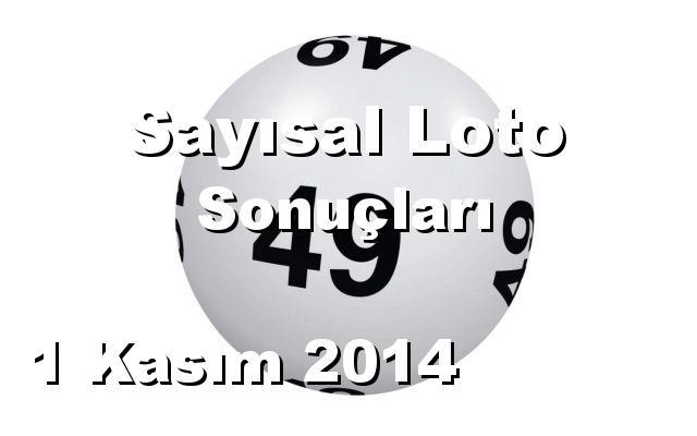 Sayısal Loto detay bilgiler 01/11/2014