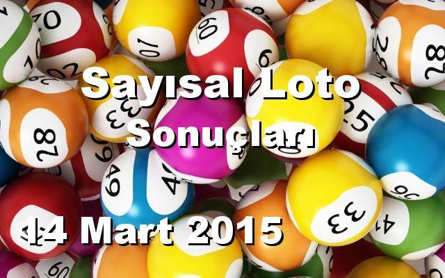 Sayısal Loto detay bilgiler 14/03/2015