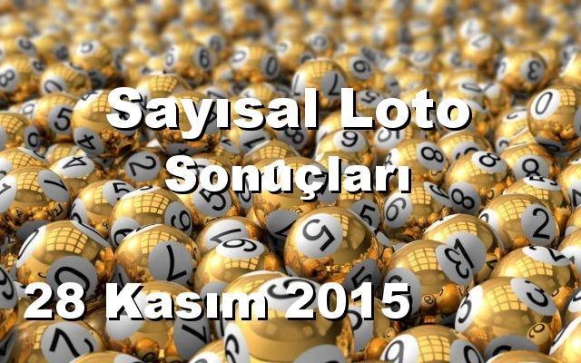 Sayısal Loto detay bilgiler 28/11/2015