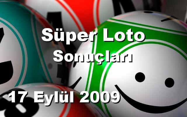 Süper Loto detay bilgiler 17/09/2009
