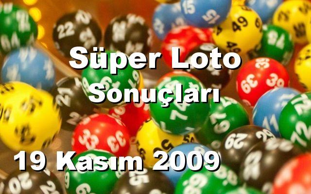 Süper Loto detay bilgiler 19/11/2009