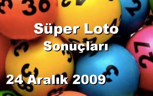 Süper Loto detay bilgiler 24/12/2009