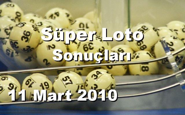 Süper Loto detay bilgiler 11/03/2010