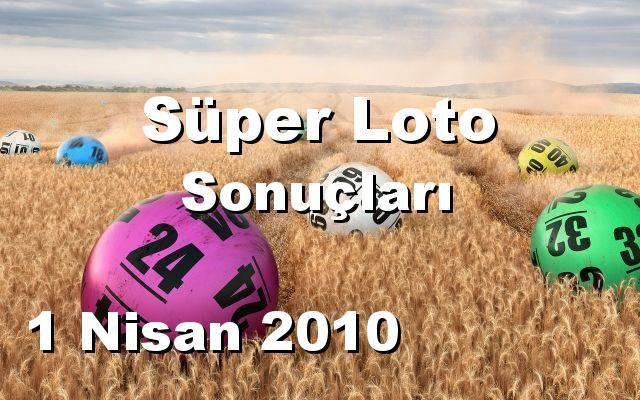 Süper Loto detay bilgiler 01/04/2010