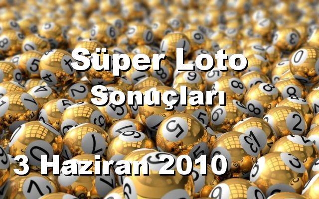 Süper Loto detay bilgiler 03/06/2010