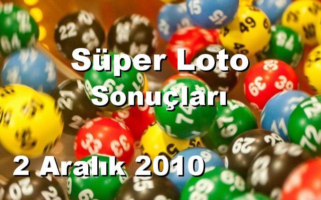 Süper Loto detay bilgiler 02/12/2010
